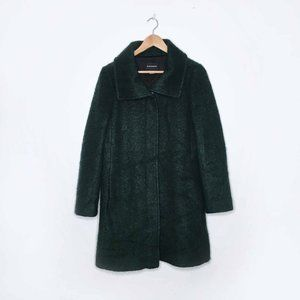Club Monaco green wool-blend boucle zip jacket